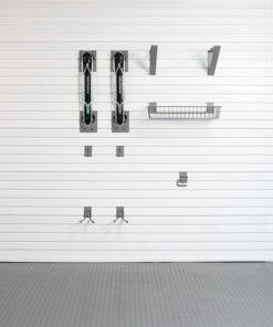 Bike storage hooks and organization